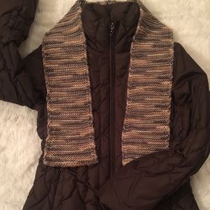 NWOT! Nine West Down Feather Puffer! Free Scarf!